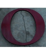"""Nice Wooden Cut-Out Enameled Letter """"O"""", VERY GOOD CONDITION GOOD SIZE - $26.72"""
