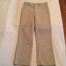 Boys Size 8 Regular Nautica pants uniform khaki flat front New - $7.99