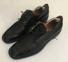 Salvatore Ferragamo Split Toe Derby Shoes 11.5 B Black DO 14475 C26 EUC - $88.10