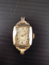 Vintage 1971 Bulova CARAVELLE Ladies Wrist Watch DUCHESS 1/20th 10K Gold... - $11.87
