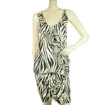 Uniforme Cream & Black Zebra Animal Print Cami Top Mini Skirt Set size S - $207.90