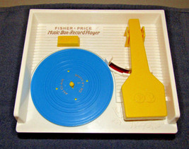 Fisher Price Classic Retro Music Box Record Player W/ 5 Records,2010,Works Great - $24.70
