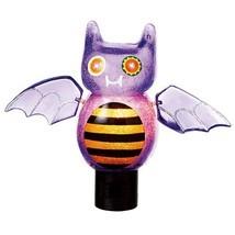 "Midwest 6.75"" Purple Orange Black Silver Beaded Bat Halloween Night Light - ₨1,285.73 INR"