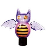 "Midwest 6.75"" Purple Orange Black Silver Beaded Bat Halloween Night Light - £13.55 GBP"