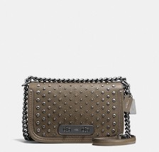 NWT Coach 57139 Swagger Shoulder Bag in Pebble Leather With Ombre Rivets... - $316.97