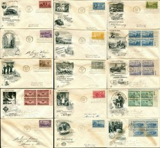 USA #993-1007 FDC First Day Issue Cover Stamps Postage Cachet Collection... - $24.00
