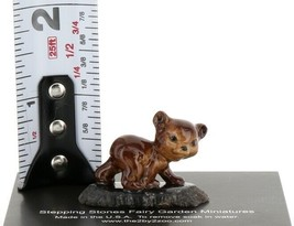 Hagen Renaker Miniature Baby Bear Cub Walking on Base Stepping Stones #2758 image 2