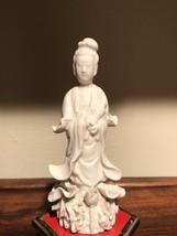 A Blanc de Chine (Dehua) Figure of Guanyin (Late Qing/Republican) - $246.51