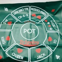 Tripoley Game Mat Only Michigan Rummy Hearts & Poker Crown Edition Vinta... - $17.00