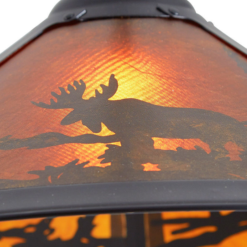 Rustic Ceiling Pendant Light Lodge Cabin Lighting Moose Wilderness Decor NEW