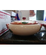 Franciscan USA Vintage APPLE Pattern Casserole Covered Serving Bowl with... - $29.65