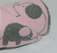 babycakes 131309 Gray Pink Elephant Baby Blanket 100 percent Cotton 36 by 30 image 2