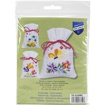 Vervaco Flowers and Butterflies Bags on Aida Counted Cross Stitch Ki, 3.... - $16.00