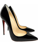 Christian Louboutin Black Patent Leather So Kate Pointed Toe Pumps Shoes... - $379.99