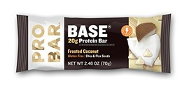 PROBAR - Base 2.46 Oz Protein Bar, Frosted Coconut, 12 Count - Gluten-Fr... - $40.71