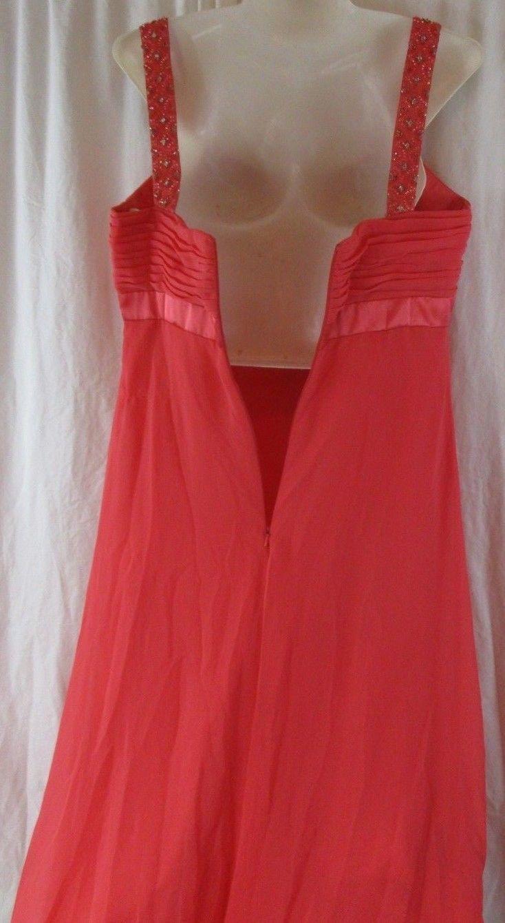 davids bridal bridesmaid dress Size 10 Coral Reef F14006