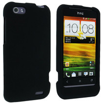 Black Snap-On Hard Case Cover for HTC One V - $4.45