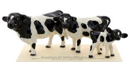 Hagen-Renaker Miniature Ceramic Cow Figurine Holstein Bull Cow and Calf Set