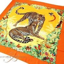 Hermes Carre 140 Shawl Stole Scarf JUNGLE LOVE Orange Yellow Cashmere Silk New - $2,059.60