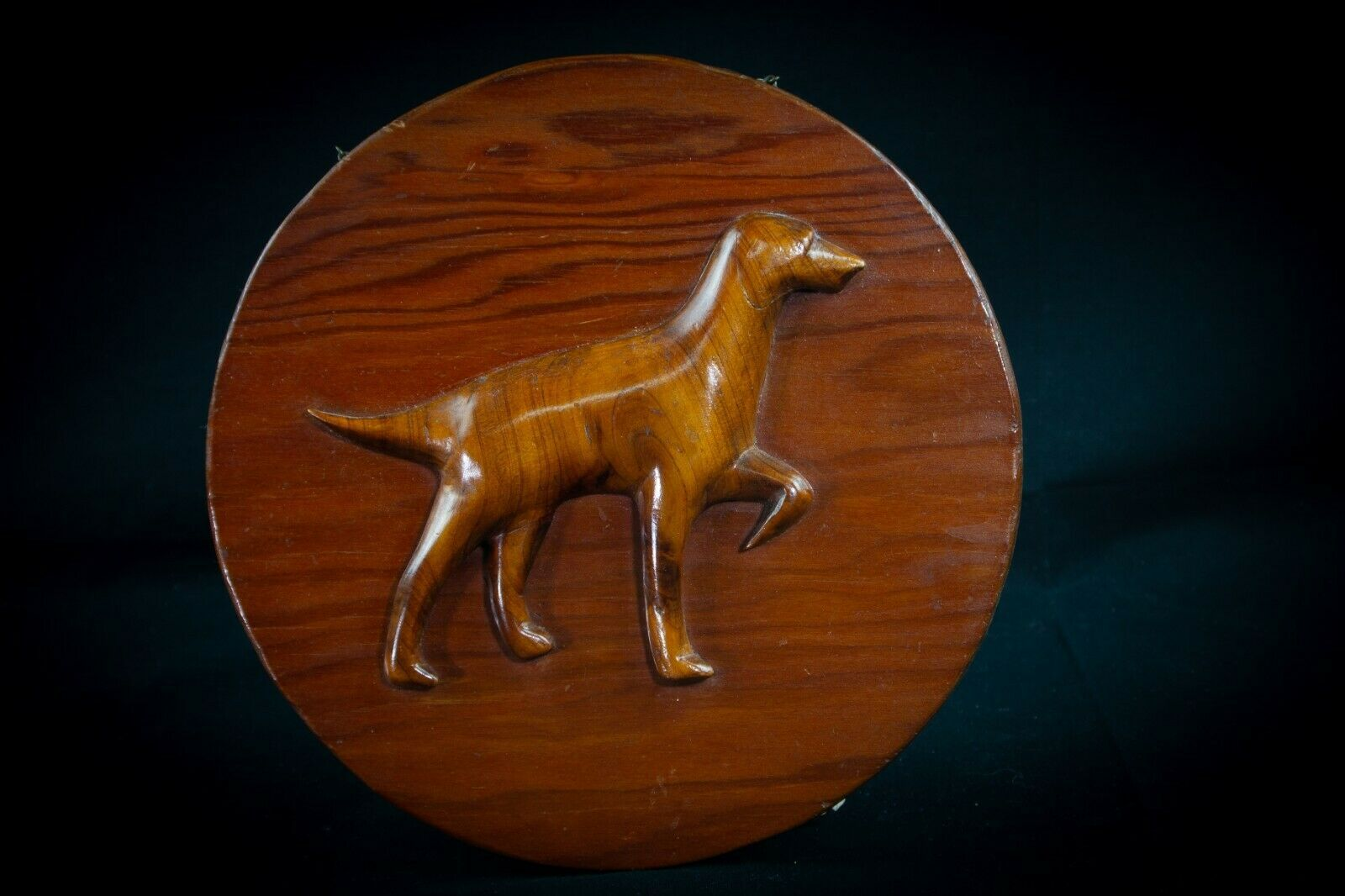 Primary image for Hand Crafted Dog Wood Plaque Picture POINTER VIZSLA Chesapeake Bay 50's