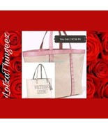 New Victoria's Secret 2-LTD Ed 2017 L White Beach & XL Canvas Tote Shoul... - $55.43