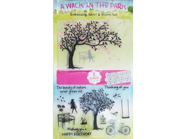 A Walk in the Park Stamp Set, Die, and Embossing Folder