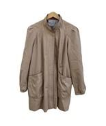 Vintage Freddie Gail Women's Jacket 13/14 Fully lined Tan Full Zip Tan B... - $19.79