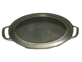 Pewter Tray With Handles Wilton Columbia PA used Made USA - $28.75