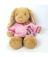 """Build a Bear Plush 15"""" Tan Bunny Pink Ears Nose Stuffed Animal Pink Shirt - $14.84"""