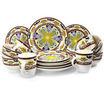 Elama Countryside Sunrise 16-Piece Stoneware Dinnerware Set - $62.41