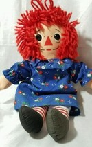 Hasbro 1987  Raggedy Ann Doll 13 Inches Tattoo Heart On Chest I Love You Dress - $22.28