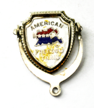 Vintage Sterling Rosecraft American Freedom Train Charm 32mm x 20mm Spinner - $9.89