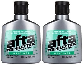 Mennen Afta Pre-Electric Shave Lotion, 3 Ounce Pack of 2