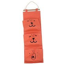 Linen Hanging Storage 3 Pockets Organizer Bag Folding Wardrobe Hang Clos... - $19.92 CAD