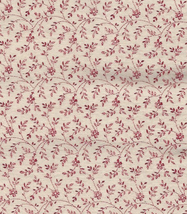 Per Half Yd Small Cranberry Flowers, Curlicue Twigs on Light Beige Quilt... - $99,52 MXN