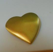 Signed Victoria's Secret Matte Gold-tone Heart Brooch  - $15.10
