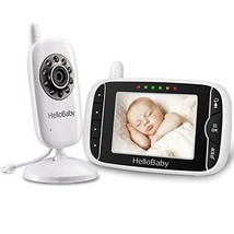 HelloBaby Video Baby Monitor 3.2'' LCD Display Screen with Camera, Infra... - $90.11