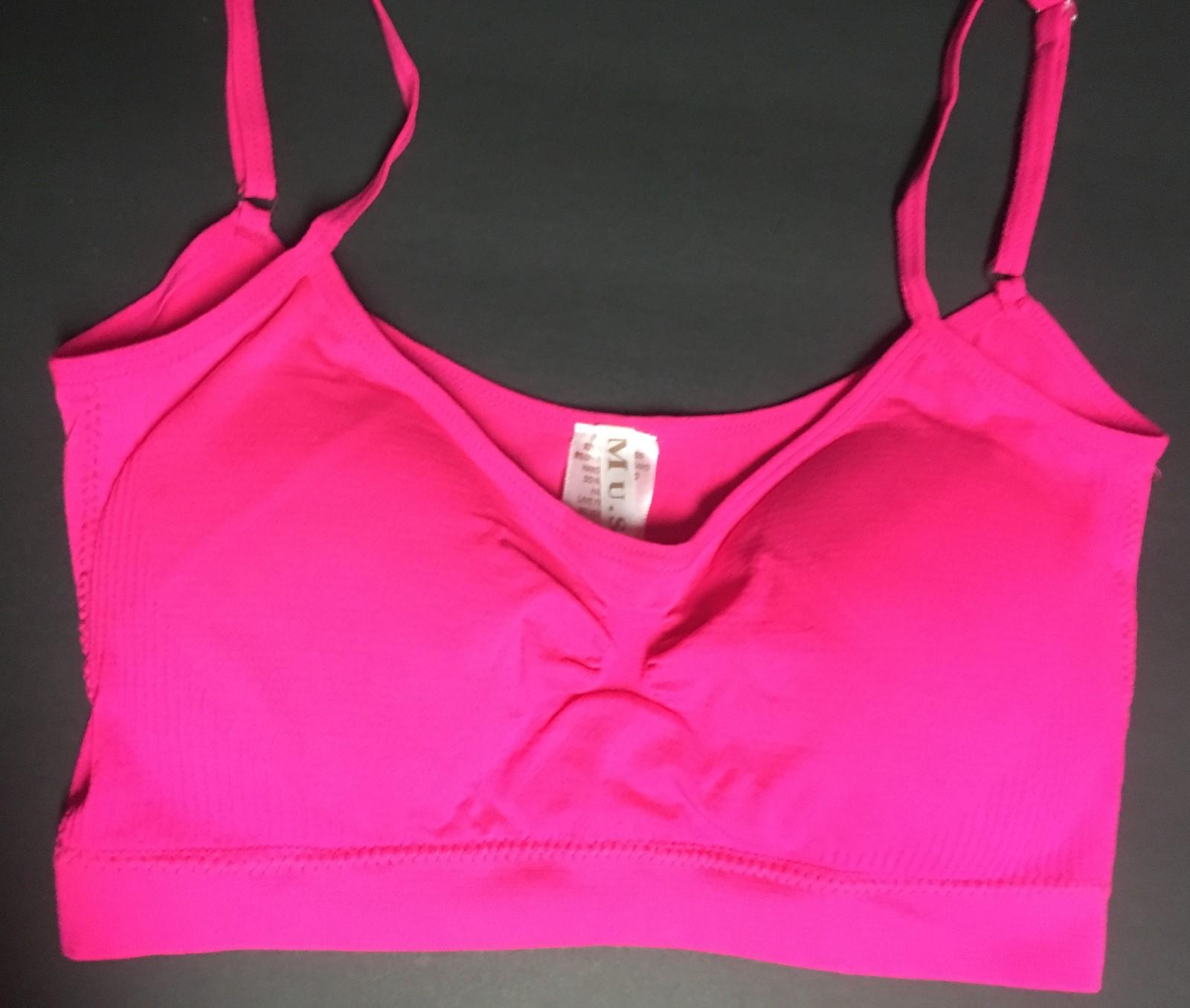 Women's Sport Support Bra Hot Pink SZ Medium Light Padding Adj Straps