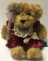 "Russ Berrie Bears From The Past Juliet 10"" Stuffed Teddy Bear Plush Red ... - $13.99"