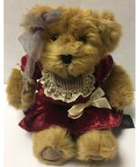 "Russ Berrie Bears From The Past Juliet 10"" Stuffed Teddy Bear Plush Red ... - $13.99"