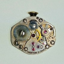 Vintage TOURNEAU Ladies Watch Movement 21 Jewels Running 18x15 mm - $18.69