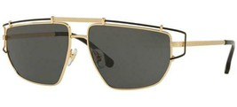 New Versace VE2202 1436/87 Gold w/Grey Metal Frame Sunglasses Authentic ... - $183.33