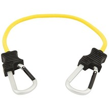 """Keeper 06152 24"""" Super Duty Bungee Cord with Carabiner Hook Yellow"""