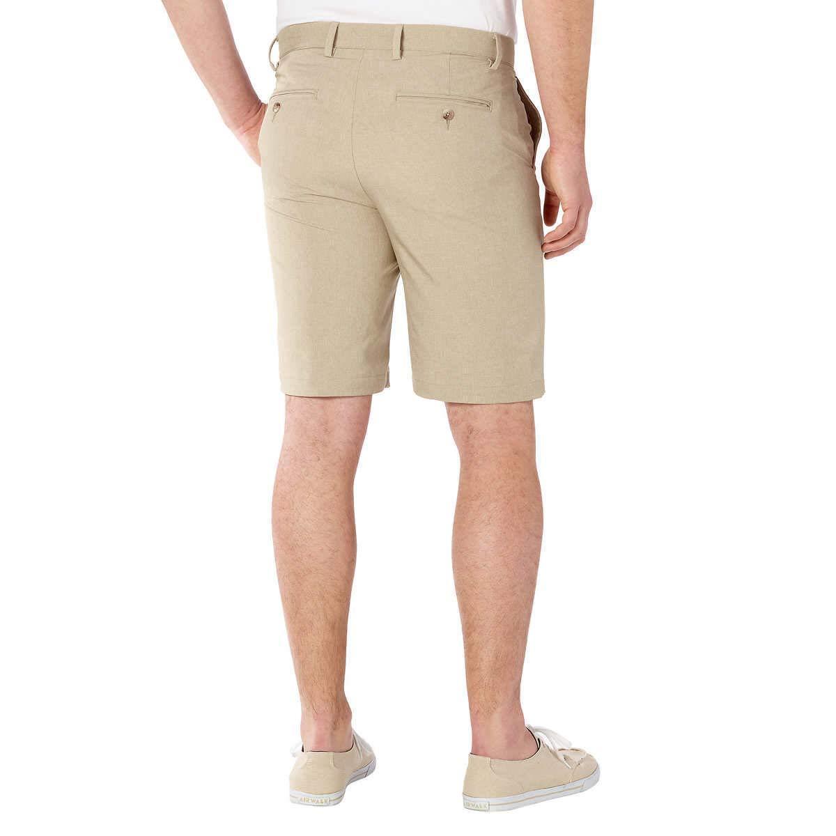 Greg Norman Signature Series Golf Shorts  , Color: Bamboo Tan Heathered