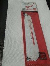 "Milwaukee 48-00-5284 6"" Long 18 Teeth Per Inch Sawzall Blade (5-PACK) USA F-11 - $14.42"
