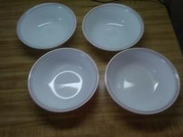 corelle Lorraine pattern bowls pink scalloped edge - $19.79