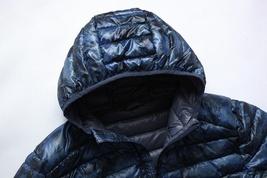 2018 Winter New Thin Down Jacket Short Section Men's Hood Down Jacket Men's Slim image 8