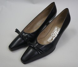 Salvatore Ferragamo Black Pump w/ Bow Womens Size 4 1/2 B - $98.80 CAD