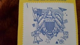 VINTAGE AUNT MARTHA'S HOT IRON TRANSFERS, #3756 EAGLE DESIGNS, CRAFTS, U... - $4.94