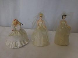 Barbie + Ken Wedding Day Bride Groom Hallmark Keepsake Ornaments + 2 Bar... - $15.86